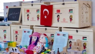 Güzel günlerin gelceği inancıyla... Oyun sandıkları, Filistinli çocuklar için yola çıkıyor