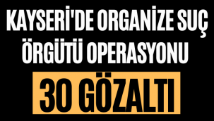 Kayseri'de Organize Suç Örğütü Operasyonu