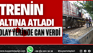 Kayseri'de Trenin Altına Atladı! Olay Yerinde Can Verdi